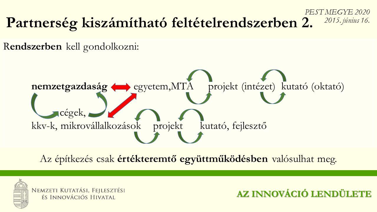 Partnerség kiszámítható feltételrendszerben 2.