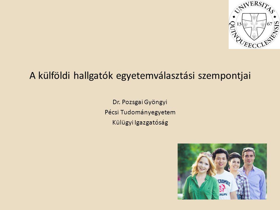 A külföldi hallgatók egyetemválasztási szempontjai