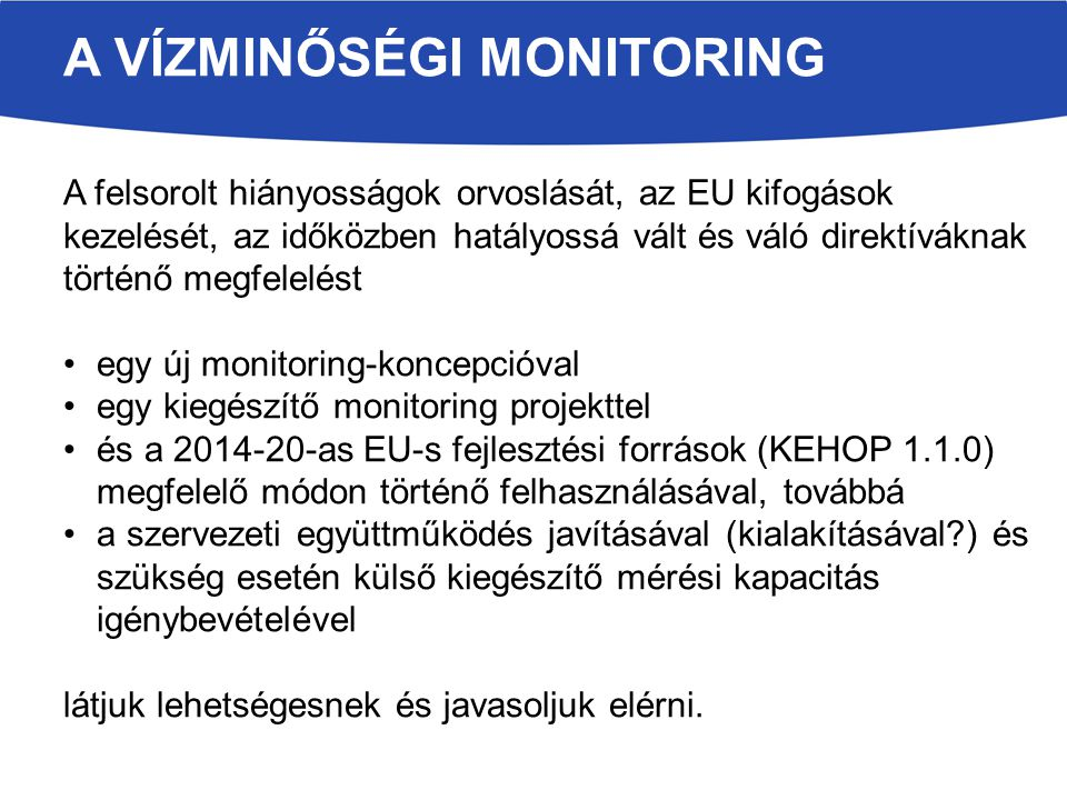 A vízminőségi monitoring