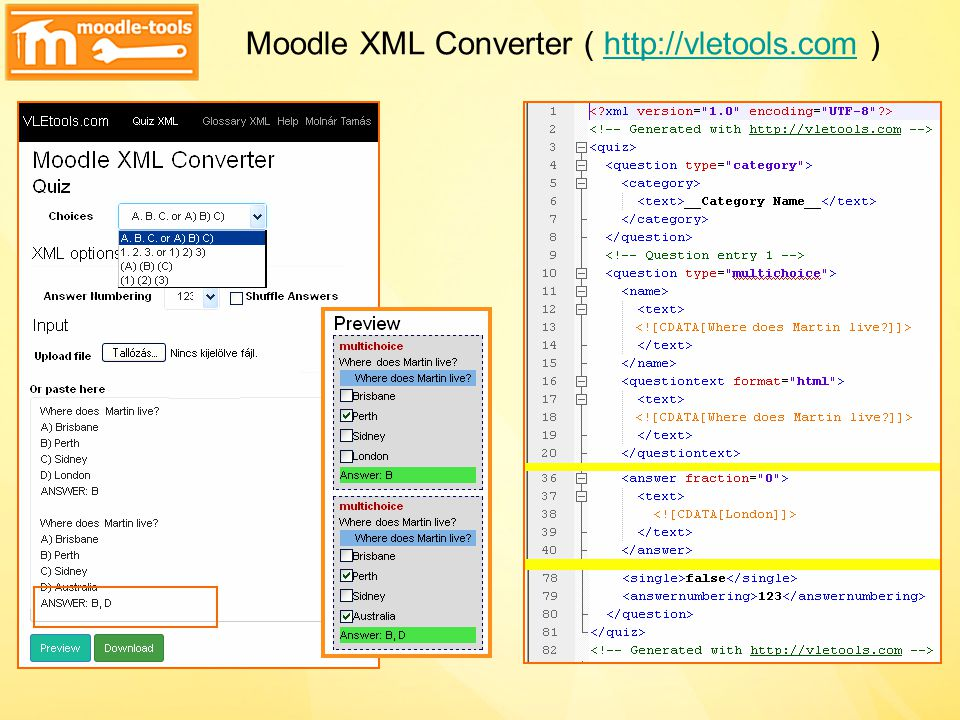 Moodle XML Converter ( http://vletools.com )