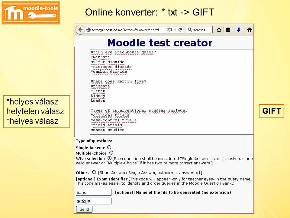 Online konverter: * txt -> GIFT