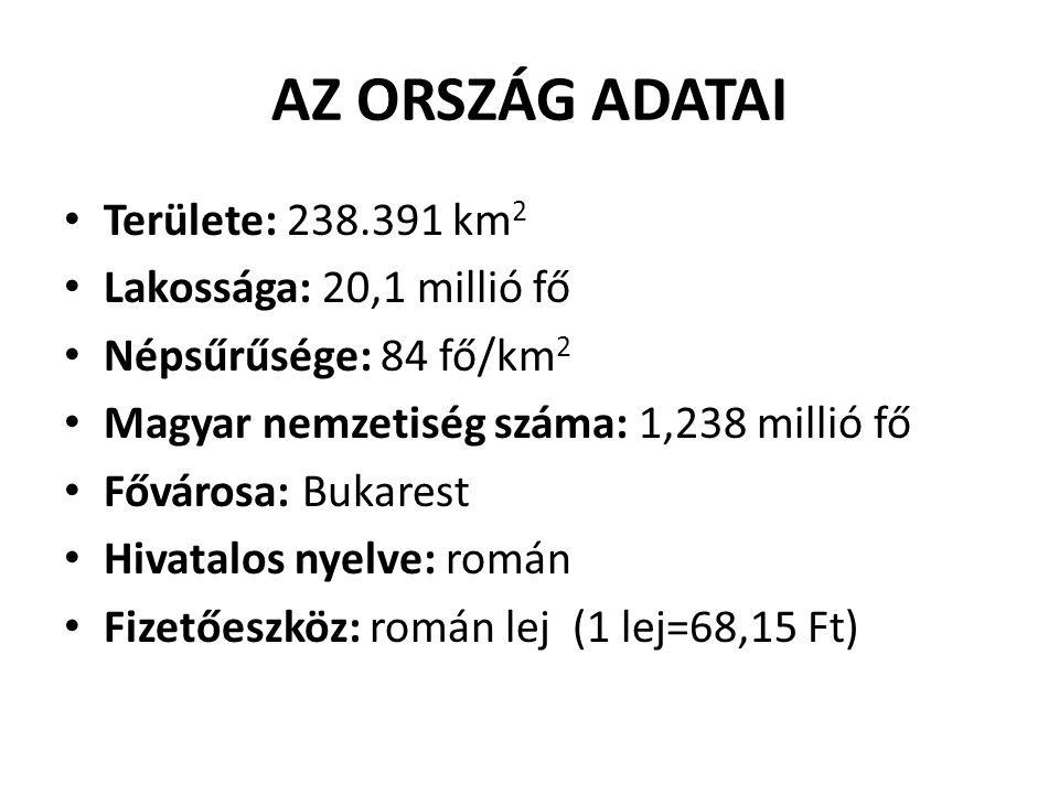 AZ ORSZÁG ADATAI Területe: 238.391 km2 Lakossága: 20,1 millió fő