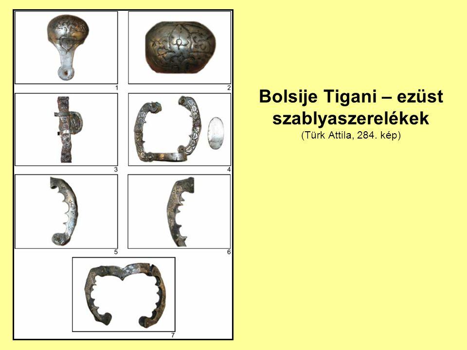 Bolsije Tigani – ezüst szablyaszerelékek (Türk Attila, 284. kép)