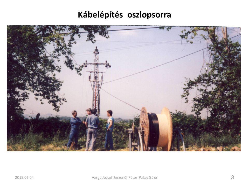Kábelépítés oszlopsorra