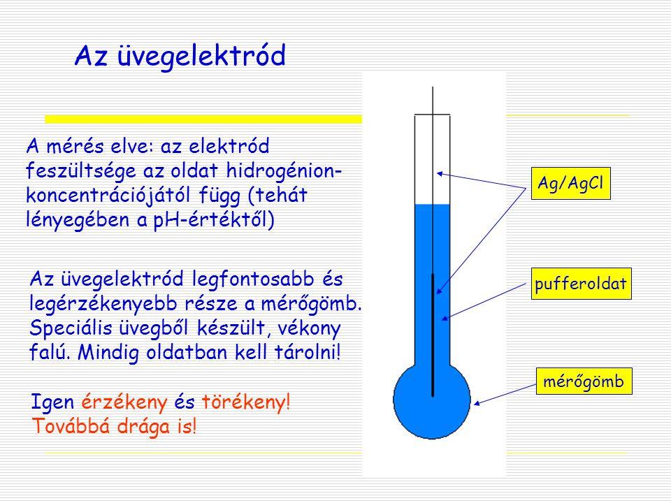 Az üvegelektród A mérés elve: az elektród