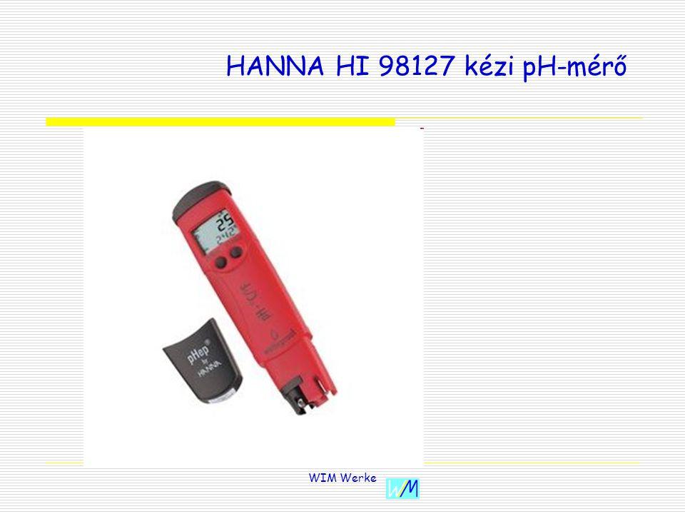HANNA HI 98127 kézi pH-mérő WIM Werke