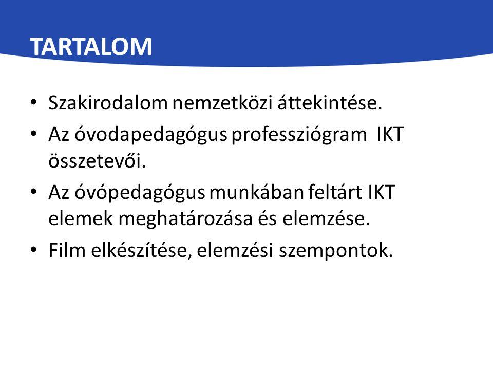 Tartalom Szakirodalom nemzetközi áttekintése.