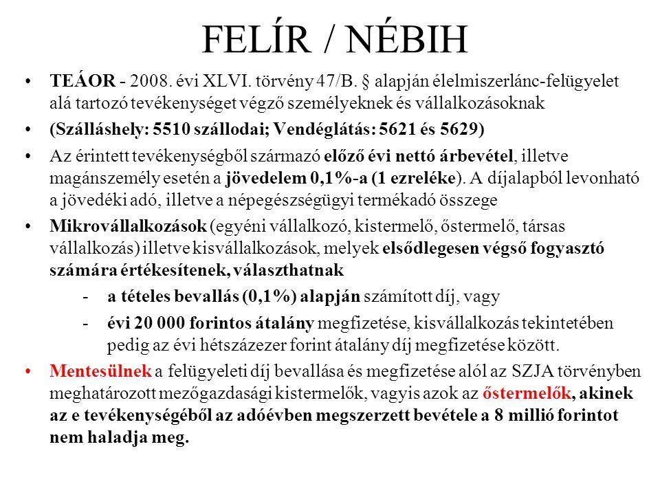 FELÍR / NÉBIH