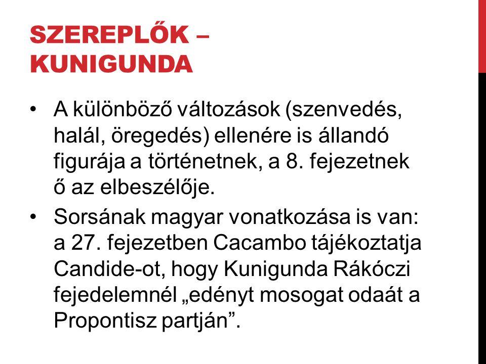Szereplők – Kunigunda