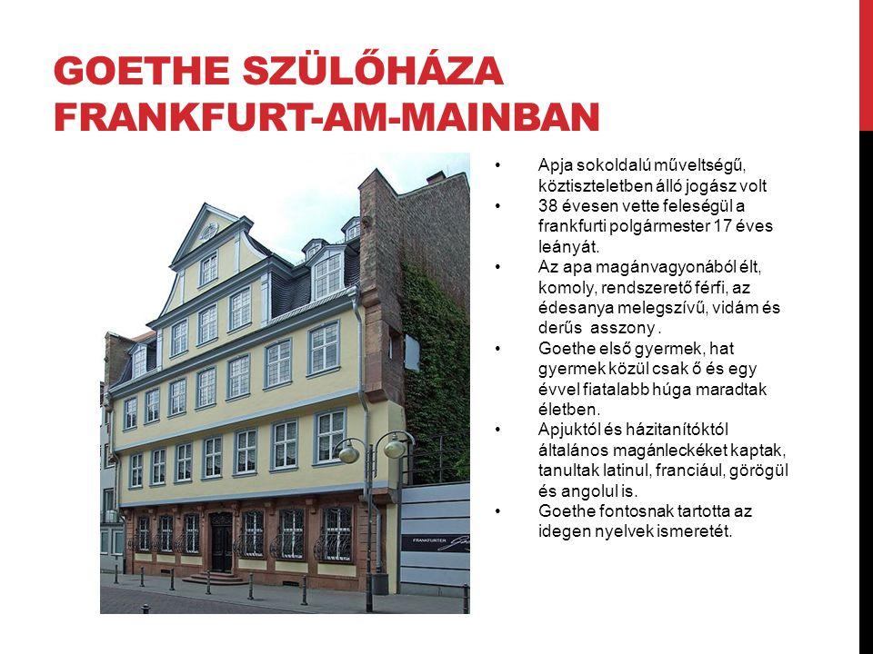 Goethe szülőháza Frankfurt-am-Mainban