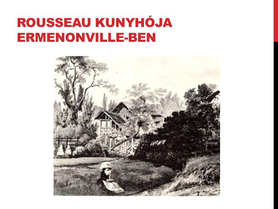 Rousseau kunyhója ermenonville-ben