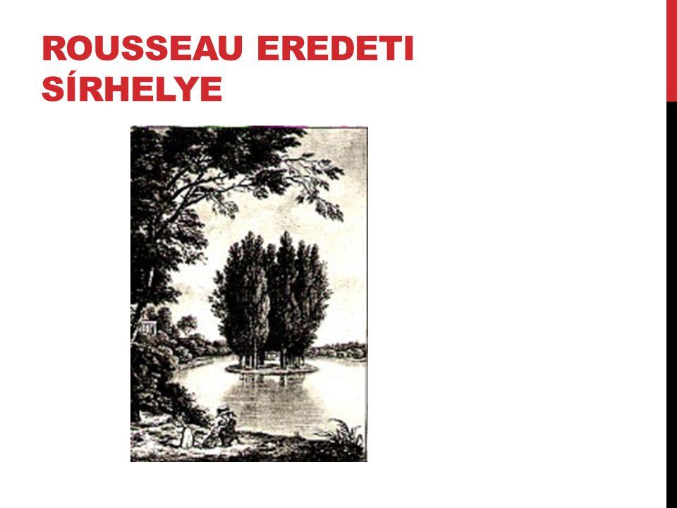 Rousseau eredeti sírhelye