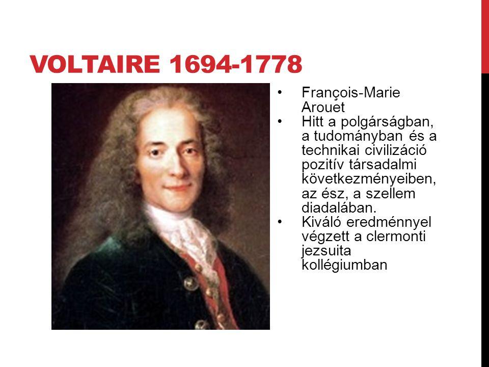 Voltaire 1694-1778 François-Marie Arouet