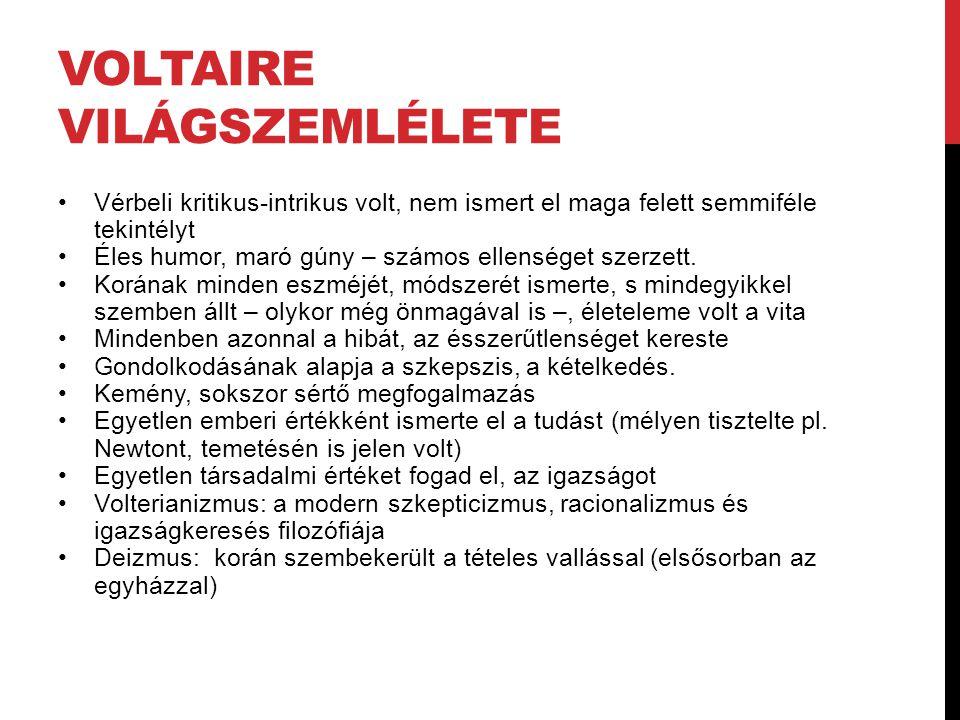 Voltaire Világszemlélete