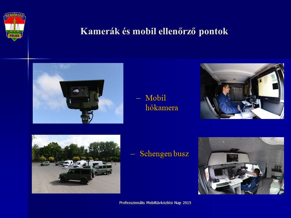 Kamerák és mobil ellenőrző pontok