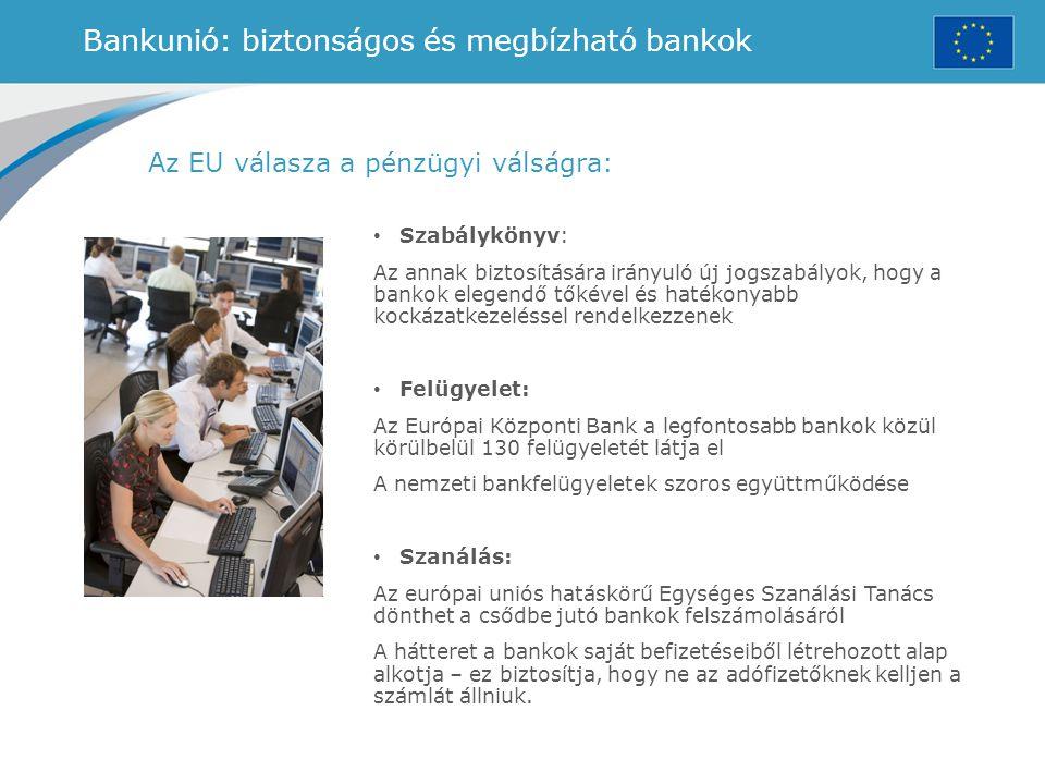 Bankunió: biztonságos és megbízható bankok