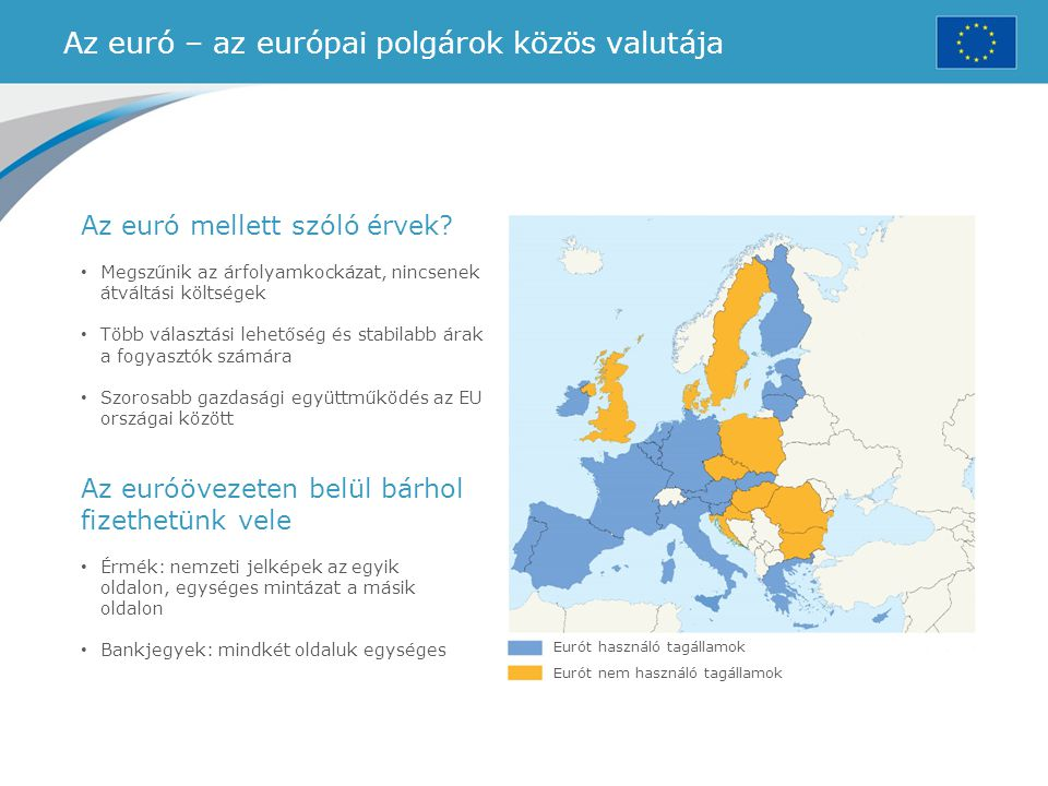Az euró – az európai polgárok közös valutája