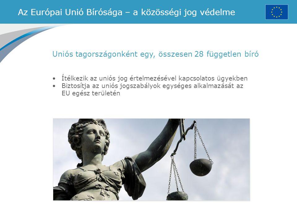 Az Európai Unió Bírósága – a közösségi jog védelme
