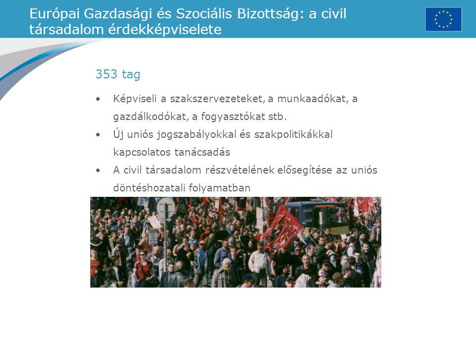 Európai Gazdasági és Szociális Bizottság: a civil társadalom érdekképviselete