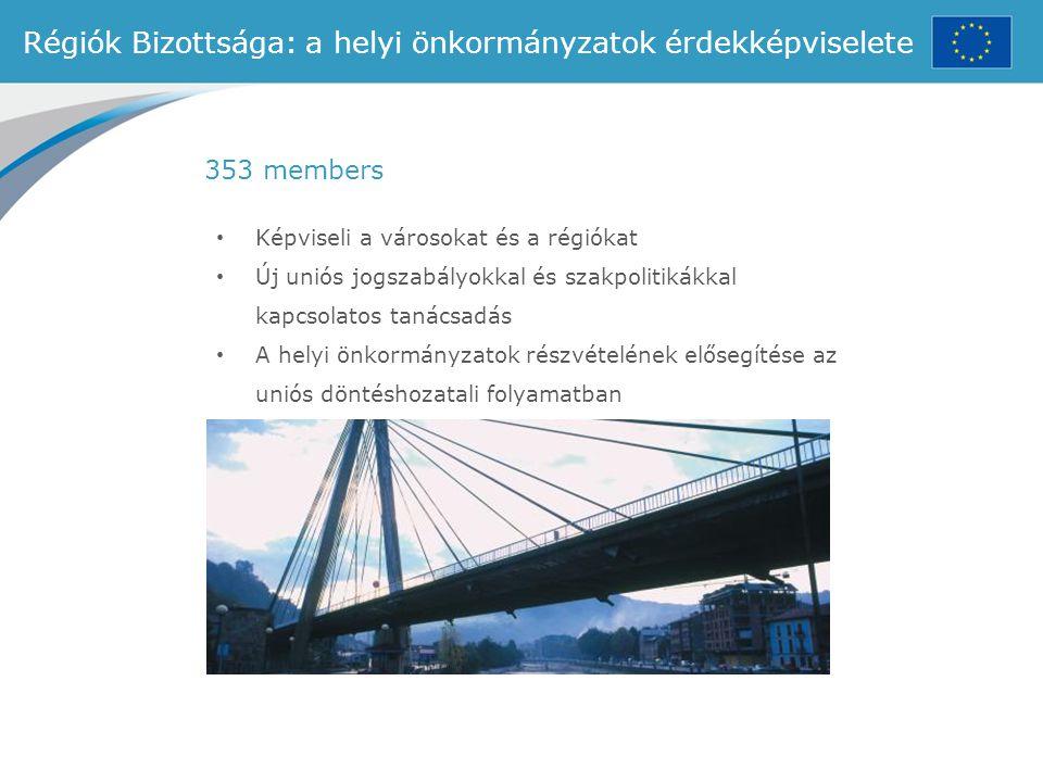 Régiók Bizottsága: a helyi önkormányzatok érdekképviselete