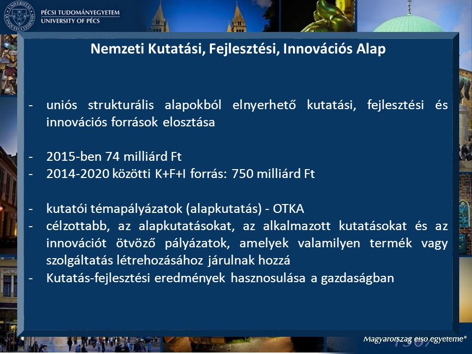 Nemzeti Kutatási, Fejlesztési, Innovációs Alap