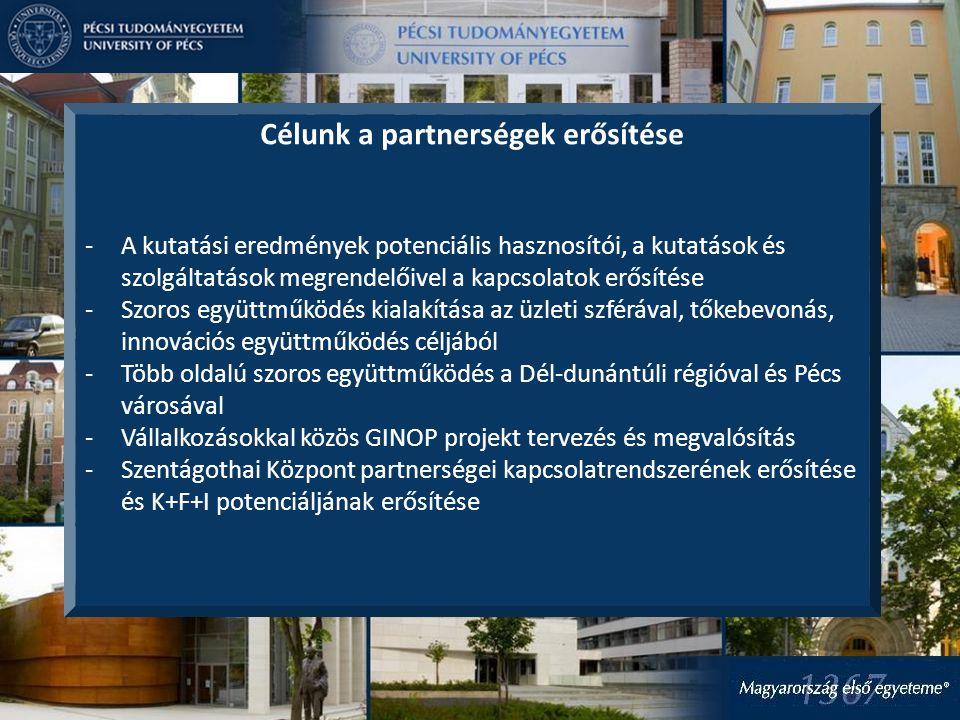 Célunk a partnerségek erősítése