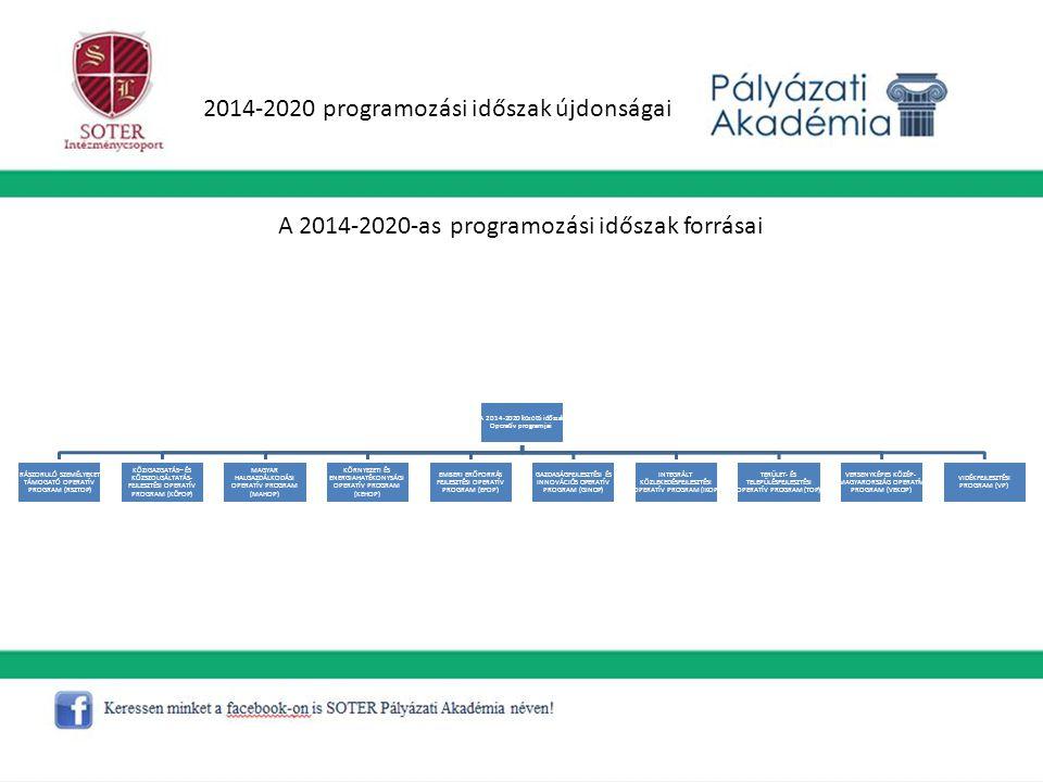 2014-2020 programozási időszak újdonságai
