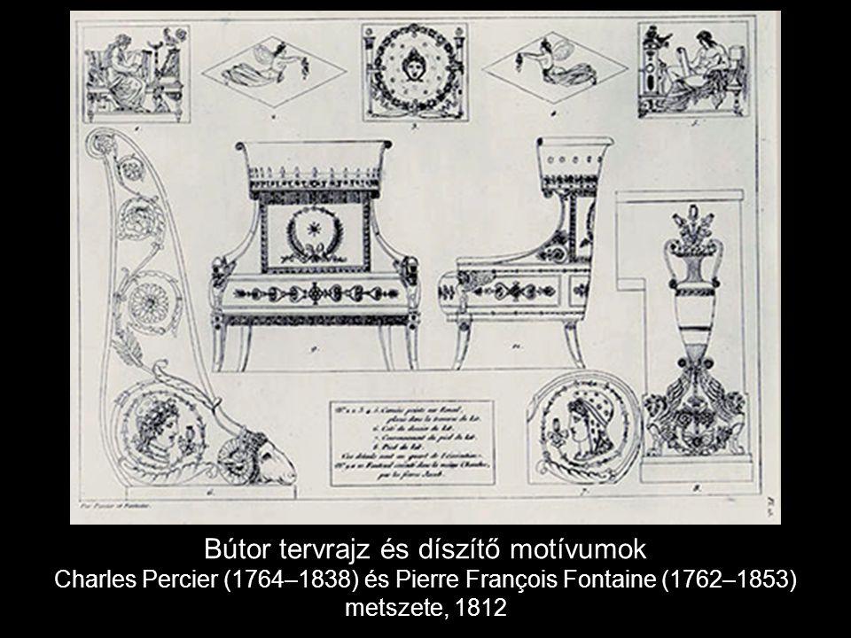 Bútor tervrajz és díszítő motívumok