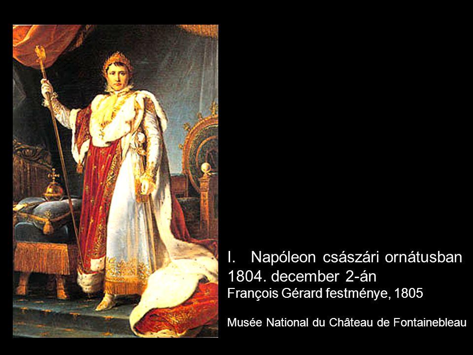 Napóleon császári ornátusban 1804. december 2-án
