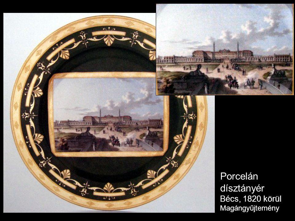 Porcelán dísztányér Bécs, 1820 körül Magángyűjtemény