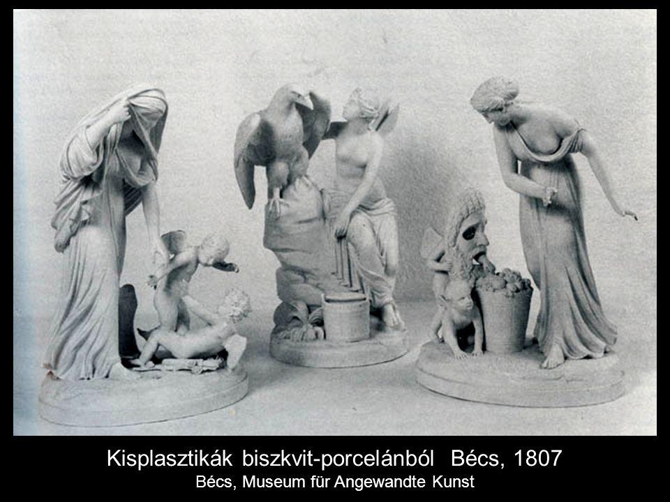 Kisplasztikák biszkvit-porcelánból Bécs, 1807