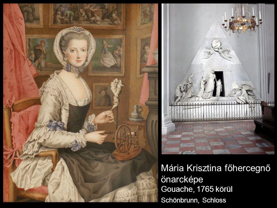 Mária Krisztina főhercegnő önarcképe