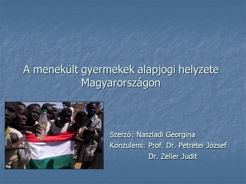 A menekült gyermekek alapjogi helyzete Magyarországon