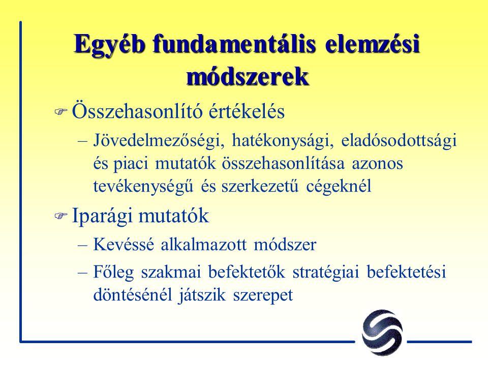 Egyéb fundamentális elemzési módszerek
