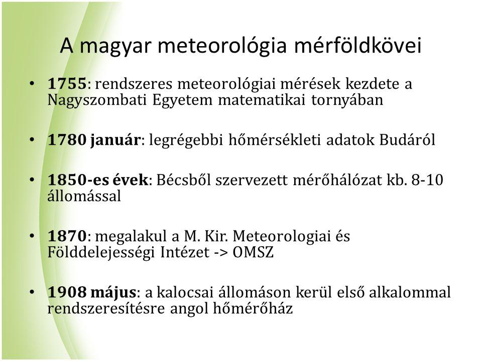 A magyar meteorológia mérföldkövei