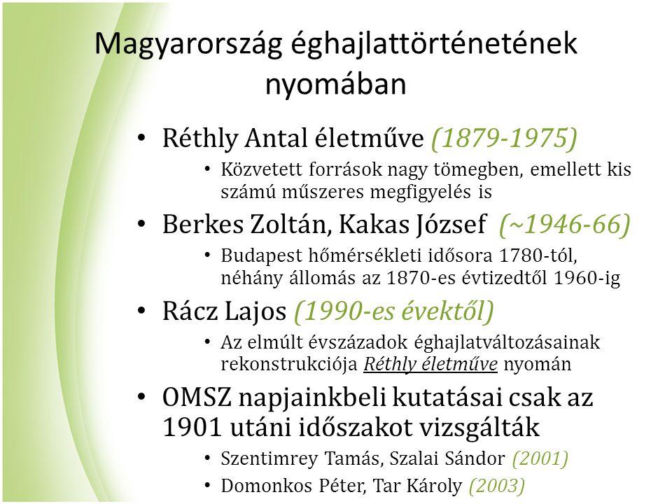 Magyarország éghajlattörténetének nyomában
