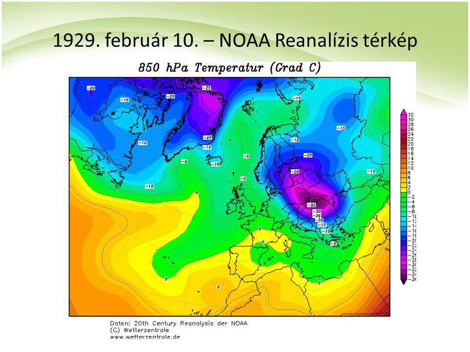 1929. február 10. – NOAA Reanalízis térkép