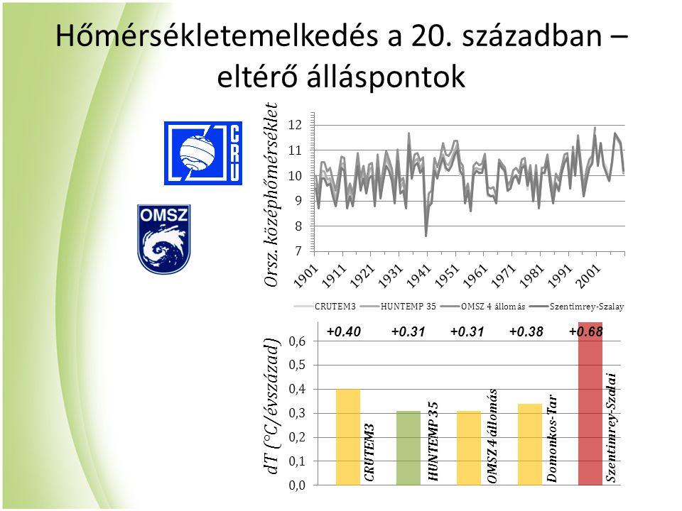 Hőmérsékletemelkedés a 20. században –eltérő álláspontok