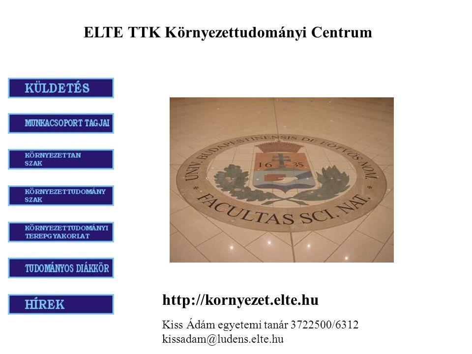 ELTE TTK Környezettudományi Centrum