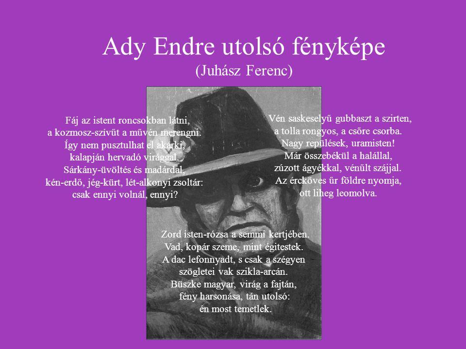Ady Endre utolsó fényképe (Juhász Ferenc)