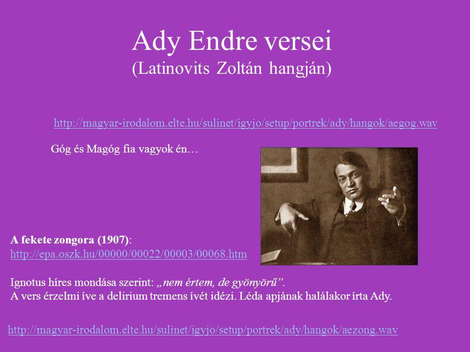 Ady Endre versei (Latinovits Zoltán hangján)