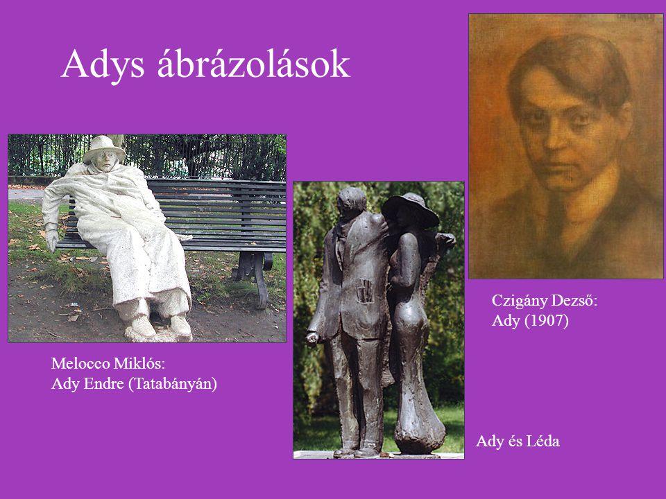 Adys ábrázolások Czigány Dezső: Ady (1907)