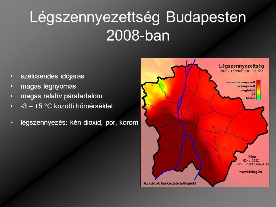 Légszennyezettség Budapesten 2008-ban