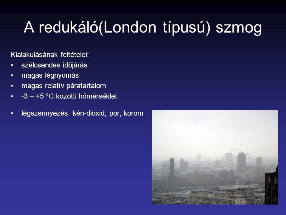 A redukáló(London típusú) szmog