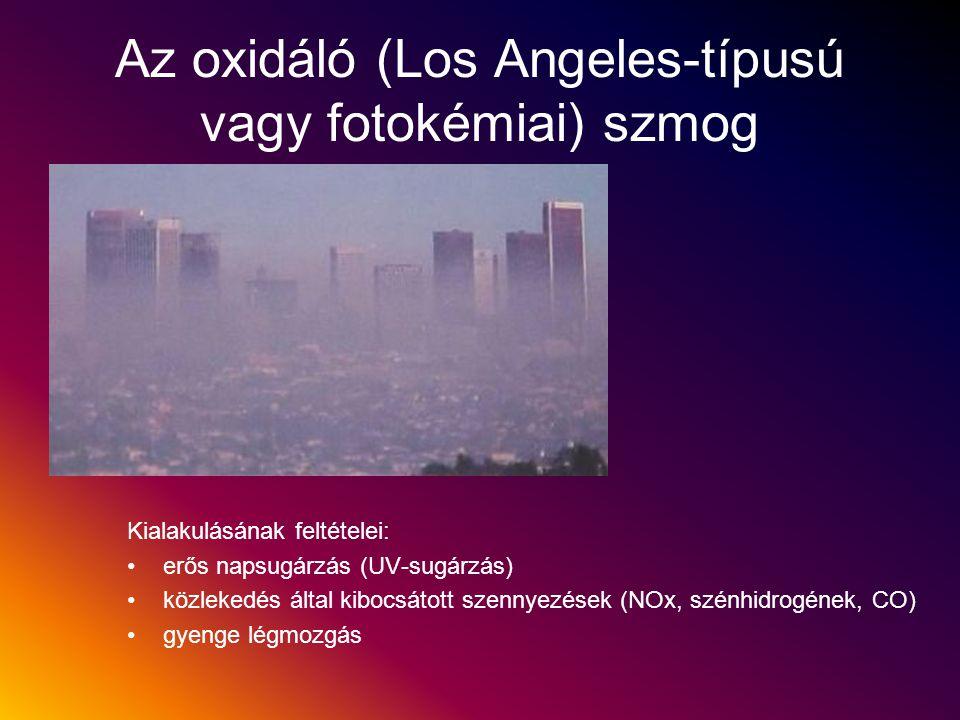 Az oxidáló (Los Angeles-típusú vagy fotokémiai) szmog