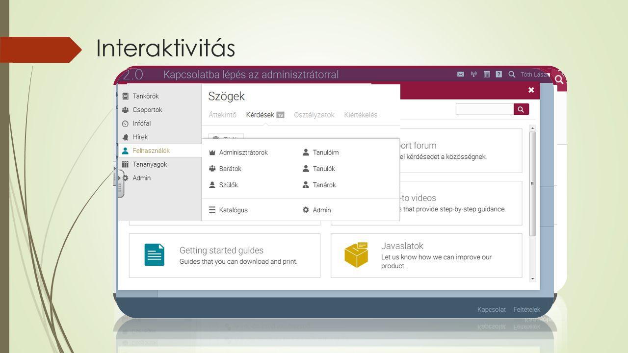 Interaktivitás - Navigáció - Jól elhelyezett linkek