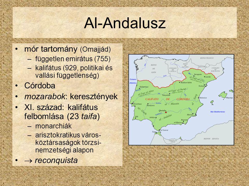 Al-Andalusz mór tartomány (Omajjád) Córdoba mozarabok: keresztények