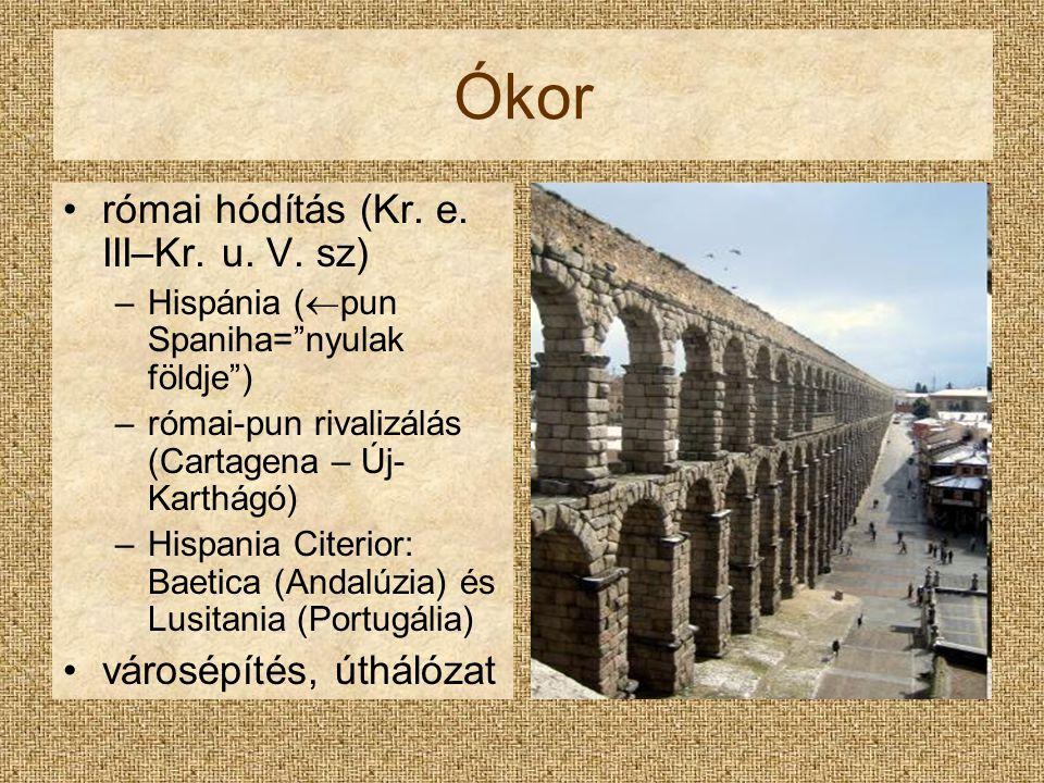Ókor római hódítás (Kr. e. III–Kr. u. V. sz) városépítés, úthálózat