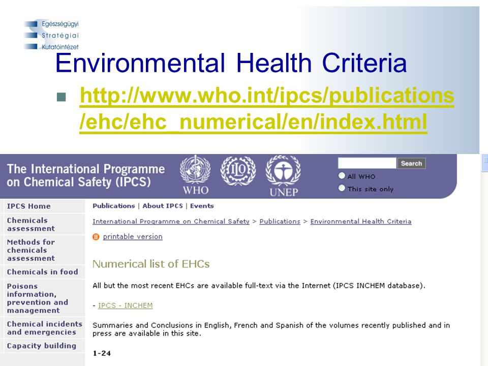 Environmental Health Criteria
