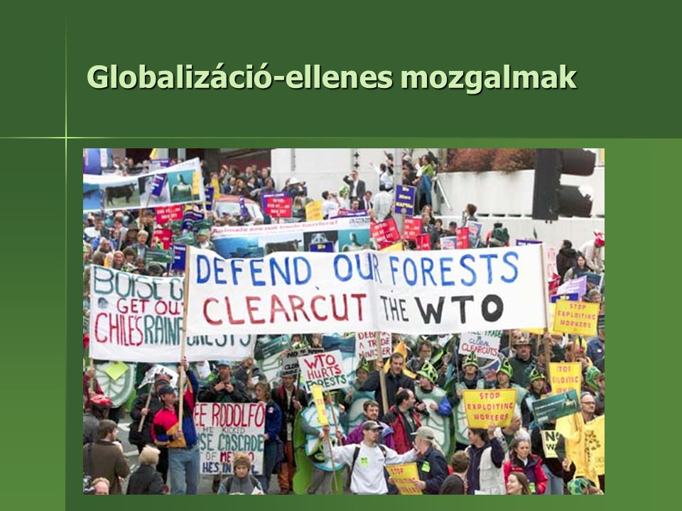 Globalizáció-ellenes mozgalmak